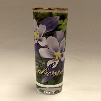 Colorado Columbine Tall Shot Glass