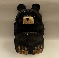 Wooden Bear Card Holder Sculpture