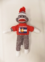 Sock Monkey With Colorado Flag T- Shirt