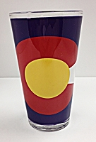 Colorado Flag Pint Glass