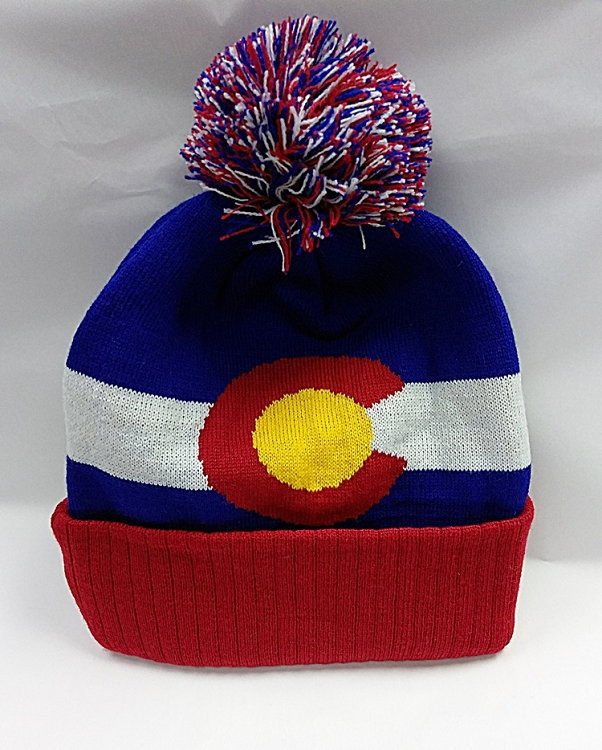 Colorado Flag PomPom Beanie 15b800a13