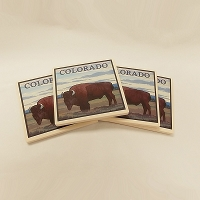 Colorado Buffalo 4 Pack Coasters