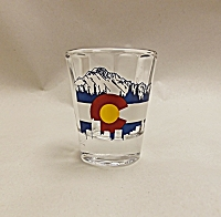 Colorado Denver Skyline Shot Glass