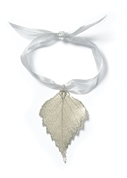 Silver Birch Leaf Ornament