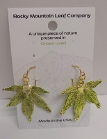 Japanese maple wire earrings