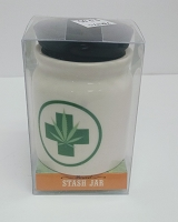 White stash jar