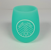 Teal Silicone Colorado Wine Glass