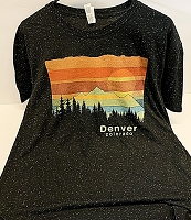 Denver Colorado Black Speckled T Shirt