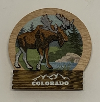 Colorado Moose Wood Magnet