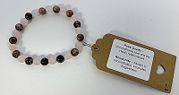 Rose Quartz and Rhodonite Bracelet