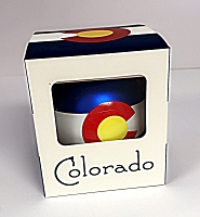 Colorado Flag Bulb Ornament