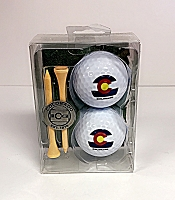 Colorado Flag Golf ball Set