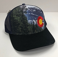 Colorado Mountain Scene Hat