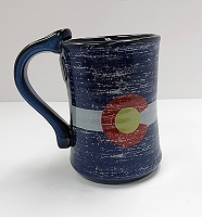 Tall Colorado Flag Ceramic Mug