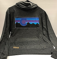 Cowel Neck Colorado Flag Sunset Light Hoodie