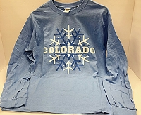 Long Sleeve Colorado Snowflake T-Shirt