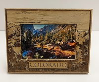Wooden Colorado Picture Frame 4x6 H Mountain Tree
