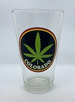 Colorado Weed Leaf Pint Glass