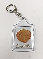 Real Aspen Leaf Keychain Natural