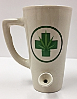 White Pot Leaf Smoker Mug