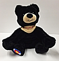 Colorado Flag Plush Black Bear