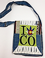 Over the Shoulder I Heart Colorado Weed Bag