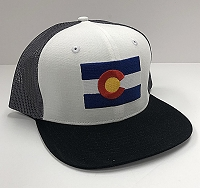 Black Colorado Flag Trucker Hat