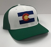 Green Colorado FLag Trucker Hat