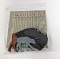 Childrens Wooden Animal Puzzle