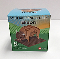 Mini Building Blocks Bison