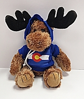 Plush Colorado Flag Hoodie Moose