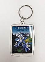 Colorado Wildflowers Columbine Keychain