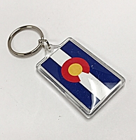 Colorado Flag Plastic Keychain