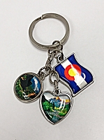 Colorado Heart Charm Keychain
