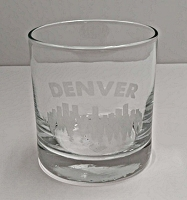 Denver Skyline Etched Drinking Glass