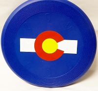 Colorado Flag Dog Frisbee