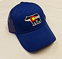 Colorado Flag Bear Snap Back Cap