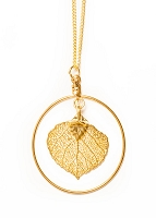 Aspen Leaf With Hoop (Gold)