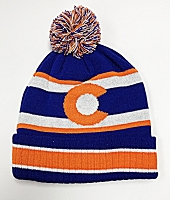 Colorado Flag Bronco PomPom Beanie