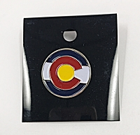 Colorado Flag Circle Pin