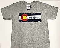 Kids Mountain Flag Grey T-shirt