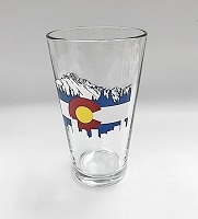 Colorado Skyline Pint Glass
