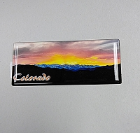 Colorado Mountain Sunset Magnet