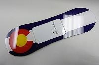Colorado Flag Snowboard Photo Frame