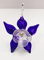 Handblown Purple Glass Columbine