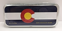 Colorado Flag Tin w Chocolate Drops