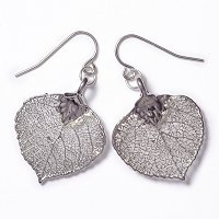 Aspen Leaf Lace Earrings (SILVER)