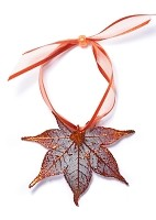 Copper Japanese Maple Leaf Ornament