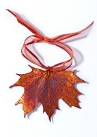 Copper Maple Leaf Ornament