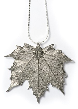 Silver Sugar Maple Necklace